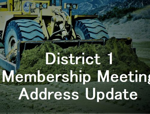 February District 1 Membership Meeting Address Update