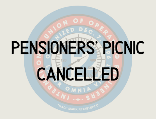 Pensioners' Picnic Cancelled
